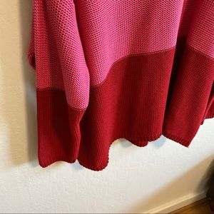 ASOS Sweaters - ASOS Junarose pink & red color block sweater 3x